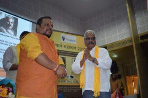 Sri Amitabha Das receiving Purushart Award